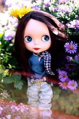 Sadie Among the Flowers