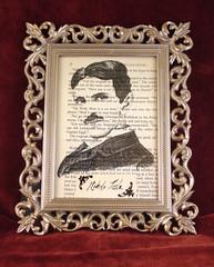 Nikola Tesla, The Forgotten Wizard (drawing reproduction, framed)