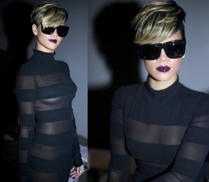 rihanna attends paris fashion week