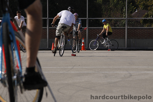Hardcourt bike polo kremins leg at the thunderdome madison