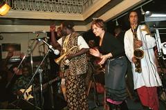 Mac Tontoh Project from Ghana at the Africa Centre London Nov 2000 054 band (photographer695) Tags: world nov africa from music london mac 2000 african centre band jazz ghana warriors ashanti kete trumpeter amanas osibisa tontoh nanaeba exosibisa
