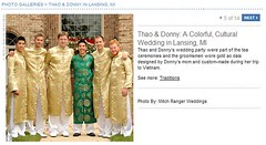 Real Weddings Feature screenshot of groom and groomsmen ao dai, click to enlarge
