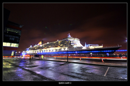 Cunard Queen Mary 2 (QM2) at Liverpool