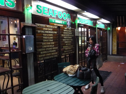 jiwon outside jordan's lobster dock