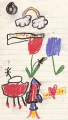 CHILDREN'S ART: TULIPS IN THE SPRINGTIME