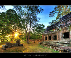 Good Morning Angkor! :: HDR (:: Artie | Photography ::) Tags: morning building classic stone architecture stairs photoshop canon temple ancient sandstone cambodia khmer shine state cs2 tripod steps wideangle angkorwat structure greens 1020mm siemreap pillars tress hdr artie angkorvat 12thcentury 3xp sigmalens photomatix tonemapping tonemap 400d rebelxti suryavaman