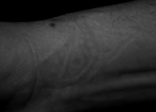 tattoo. vliegtuig. vlinder
