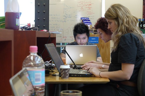 The team in action on Sunday (minus one member). Photo from Matt Cashmore Flickr http://www.flickr.com/photos/mattcashmore/