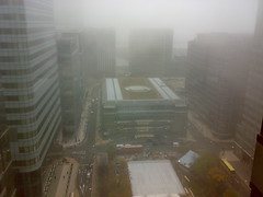 Freezing Fog in Canary Wharf
