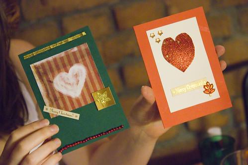 Julekort - hjemmelagde julekort er koselig å lage, og enda koseligere å sende!
