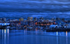 Victoria, British Columbia Skyline at The Blue Hour (HDR series) (Brandon Godfrey) Tags: world street city longexposure bridge light sky urban canada reflection water beautiful skyline architecture clouds reflections boats photography lights sussex bay amazing interesting twilight industrial cityscape bc pics earth britishcolumbia sony details capital scenic victoria canadian spire vancouverisland commercial jungle highrise western pacificnorthwest northamerica series vic ripples bluehour alpha dslr thefalls hdr highdynamicrange highrises vicwest detailed viewtowers thebluehour a300 thechelsea johnsonstreetbridge themetropolitan standrewssquare standrewscathedral photomatix thebaycentre tonemapped tonemapping cibcbuilding executivehousehotel chateauvictoria sonya300 staplesbuilding
