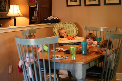 5 Boys at the table
