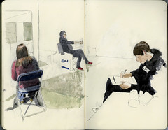 Quietly drawing (Wil Freeborn) Tags: moleskine museum sketch edinburgh journal royal nms