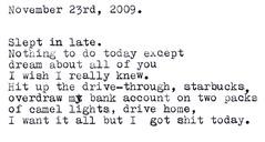 Sleeping in. (prescience) Tags: typewriter writing poetry document prose typewriterblues