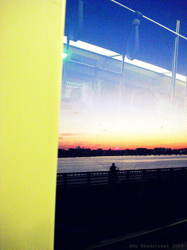 sunset from the T