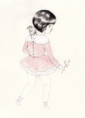 Bernadine (Sarah McNeil) Tags: art illustration fairytale drawing exhibition leeloo piedpiper onceupon sarahmcneil
