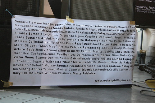 Names of the Victims of Maguindanao Massacre