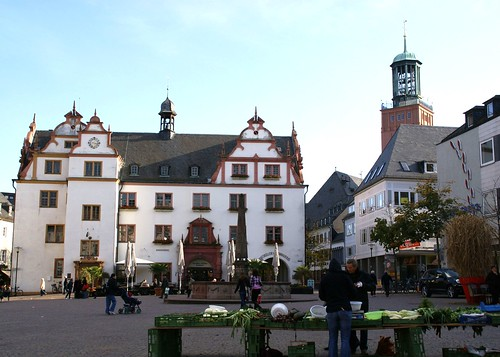 Darmstadt, Marktplatz mit Altem Rathaus (Market Square and Old Town Hall)