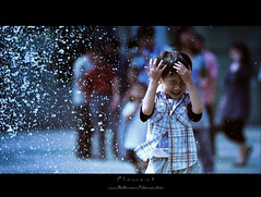excited (Clementqc) Tags: life china street blue portrait people water face hongkong kid nikon asia candid snap portraiture nikkor lantau d700