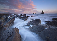 Mupe Sunset (antonyspencer) Tags: uk winter sunset seascape water landscape coast site rocks long exposure cove unesco dorset range jurassic purbeck lulworth ledges mupe superaplus aplusphoto