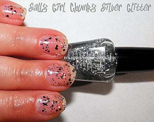 Sally Girl Chunky Silver Glitter