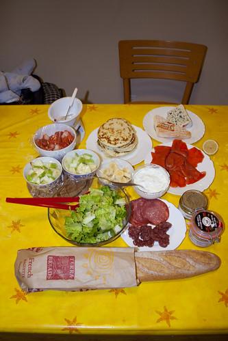 Petit repas de Noël en famille
