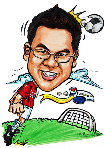 Man-u soccer player caricature