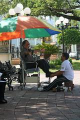 Shoeshine in Campeche