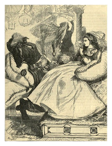 026-Muerte del mago africano-A.B. Hougston-Dalziel's Illustrated Arabian nights' entertainments (1865)
