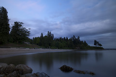 Third Beach @ Stanley Park (Claire Chao) Tags: ocean longexposure blue sea cloud canada color colour reflection tree water colors vancouver clouds canon rocks alone quiet colours bc waterfront dancing britishcolumbia magic noone floating tranquility nobody calm stanleypark bluehour tranquil thirdbeach drifting quietness aftersunset longexposures llens beautifulbritishcolumbia bymyself cloudreflection canon1635mmf28 floatingcloud canoneos5dmarkii 1635mmllens asshotwb driftingcloud 5100k2