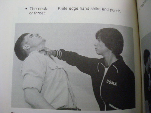Knife Edge Hand Strike Punch Of Throat