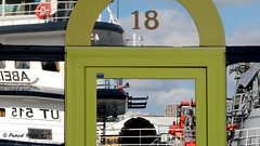18 - Abeille Bourbon window reflection (patrick_milan) Tags: bateau ship boat voilier pêche sailing fishing iroise ocean port harbour quay quai buoyant buoy tugboat saariysqualitypictures hull bow brest abeille bourbon window reflection