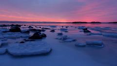 Frozen sea after the sunset (Lauttasaari, Helsinki, 20170212) (RainoL) Tags: 2017 201702 20170212 balticsea bluehour drumsö february fin finland geo:lat=6015117412 geo:lon=2486907067 geotagged helsingfors helsinki hevosenkenkälahti hästskoviken ice lauttasaari nyland sea sunset sunsunset tiiraluoto tirklacken twilight uusimaa