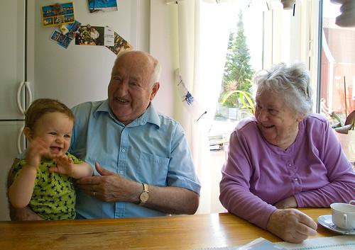I köket hemma hos farmor och farfar