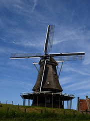 Windmühle / Windmill # 1 (schreibtnix on 'n off) Tags: holland travelling netherlands windmill reisen towns städte medemblik ijsselmeer niederlande windmühle olympuse3