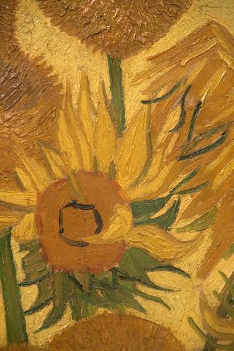 Zonnebloemen (detail 2). Vincent van Gogh (1889)