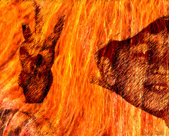 3 (Ricky rake) Tags: red people black art fire distorted essexcounty nj wierd ysplix