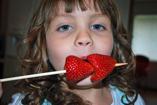 Eating Strawberries