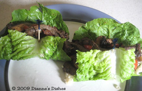 Asian Lettuce Wraps: Wrapping