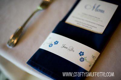 Napkin Wrap Seating Cards Weddingbee Photo Gallery