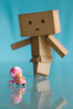 Baxter Danboard - WTF?!?! (jessytimko) Tags: pink square toy 50mm robot nikon dof box manga naturallight cardboard baxter wtf 18 supermariobrothers yotsuba danbo toadette d90 revoltech danboard d90club jessytimko my1uplife creativesoup baxterdanboard