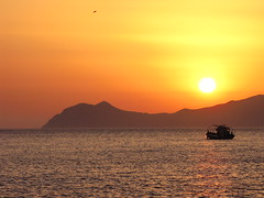 Sunset on Gyali Greece