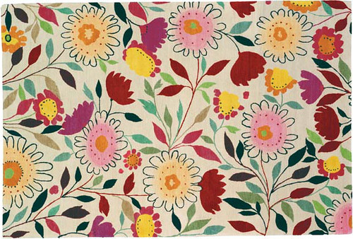 MUMS-AND-ASTERS RUG