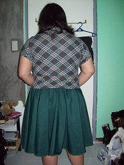 Green skirt back