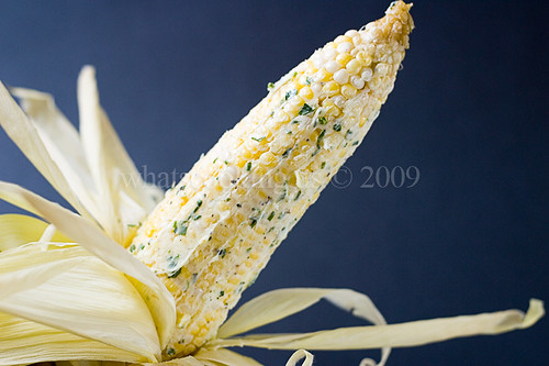 Roasted garlic corn
