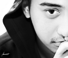 The Diary Of A Young Man (Tomasito.!) Tags: boy portrait blackandwhite man male guy youth studio 50mm hoodie high eyes hands nikon key poetry poem diary philippines young handsome monotone jacket doctor hood filipino highkey beautifuleyes youngman pilipinas stubbles catchlight tomasito d90 strobist nikond90