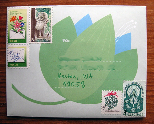 Green lotus envelope