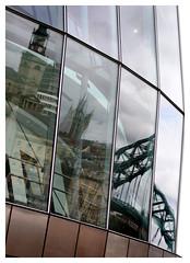 The Sage, Gateshead (Neil Aiston) Tags: bridge reflections newcastle sage tyne stnicholascathedral
