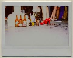 Bottles (AndyWilson) Tags: feet magazine brighton fuji bottles wide instant redshoes instax darkdaze gangup louiebanks samhiscox oldmusiclibrary