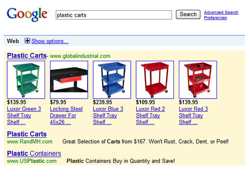 New Google AdWords Product Results